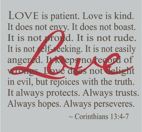 Love is patient, love is kind, love is spiritual definition