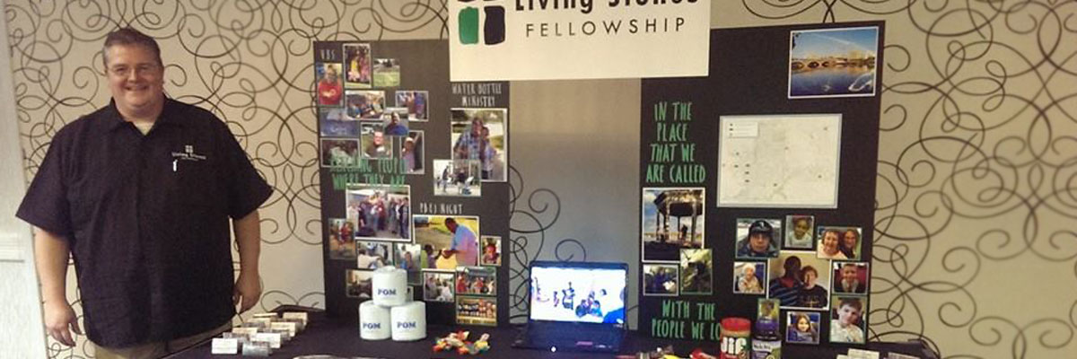 Living Stones Booth looking for partners in the ministry