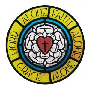 Soli Deo gloria - Luther's Logo Rose